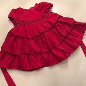 Red Satin Dress Valentine's Day ❤ Size 9 Months
